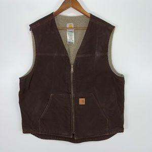 Carhartt Men's Sandstone Fleece Lined Vest